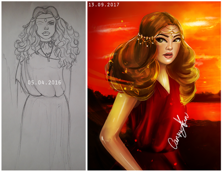 Redrawing my old work!! (Cassandra) by CansuAkn