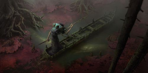 Charon. Crossing the Styx by Lac-Tic
