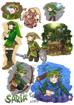 Saria the hero of time by LEILA-S-P7