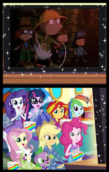 Mane seven are watching the rugrats movie by Beanie122001