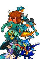All Water Starters Pokemon by Arelle28