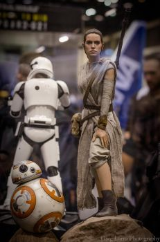 Rey and BB-8 (Sideshow Collectibles) by greglarro