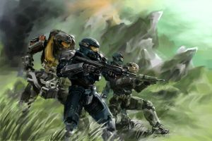 Halo Reach: Noble Team by Justinian84