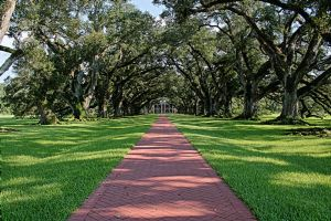 Oak Alley Facing Mansion by DeepSlackerJazz