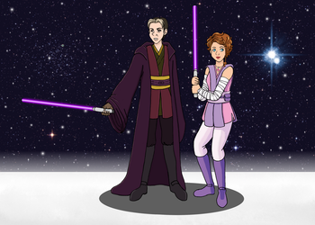 Jedi Cedric and Padawan Sofia by SuirenShinju