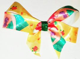 Princess Ariel Yellow Disney Hair Bow by wolf-girl87