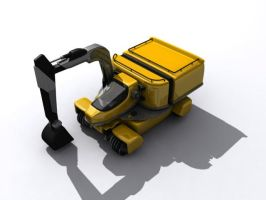TESH-driven excavator by Dlordtesh