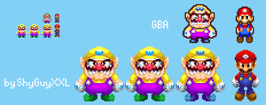 Wario's Unused Cameo 3DS Style by ShyGuyXXL