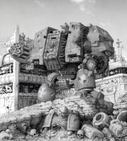 Warhammer 40000 Dreadnought by garr0t