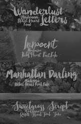 + Rebel Heart  FONTS  by natieditions00