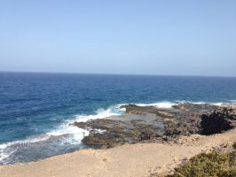 Fuerteventura Sea and Cliff  by Daylight-Lycanroc