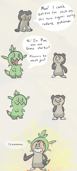 Chespin the Mischievous by Kirazy