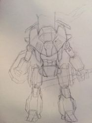 Messy Mech WIP by Metachion