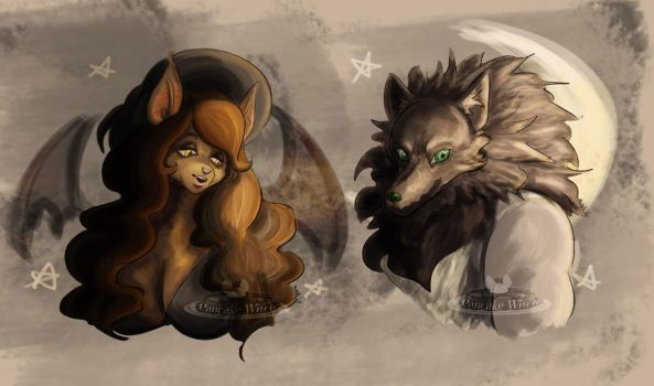 Autumn Matching Portraits 2017 by blackwoodwitch