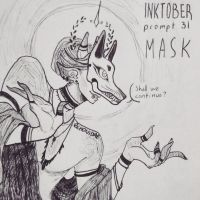 inktober day 31 - mask by echonidae