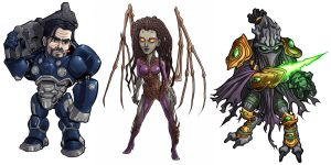 Starcraft Bigheads by Novanim