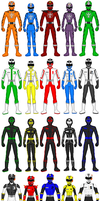 Power Rangers Extra Teams/Rangers 1 by exguardian