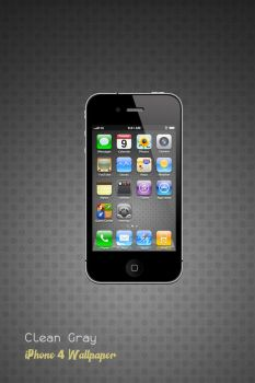 iPhone 4 Clean Gray Wallpaper by Martz90