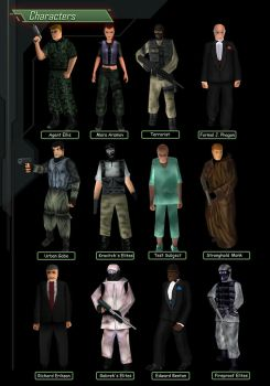 Characters SET Syphon Filter 1999 by SFCreator