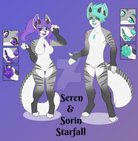 Seren And Sorin Family Fur (GIFT) by WibbleyWobbleys