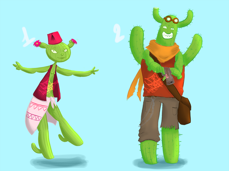 Cactus Adoptables [OPEN 2/2] by Nartiifiice