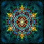 Flower of Life Fractal Mandala