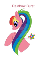 Rainbow Burst OC by BrittanysDesigns