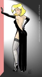 Totally Black Dress by Inspector97