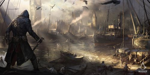 Assassin's Creed: Syndicate Westminster River by daRoz
