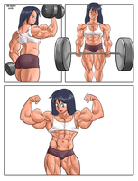 Commission: Bicep Grow Part 2 by NeroScottKennedy