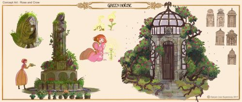 Rose and Crow : Green House by SupereveyLG