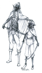 Drow dad and son by DarkFalcon-Z