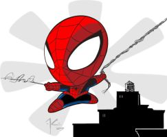 Super deformed Spidey by Solblight