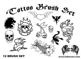 TATTOO Brush Set by luther1000