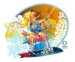 Thunder Girl on a wake board by MabaProduct