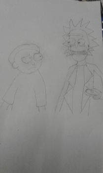 Second  Rick and Morty drawing by Ashtasticle
