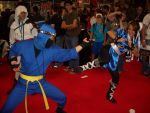 Clash Of Fighters In Blue by StealthNinja5