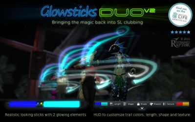 Second Life Promotion - Glowsticks Duo by RestrainedRaptor