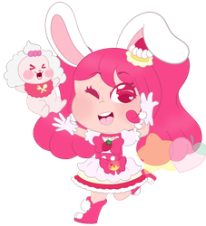 Cure Whip Precure Keychain Chibi by StarPeachs