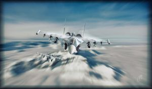 Su-35S by Distantstarr