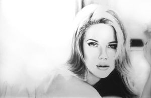 Scarlett Johansson pencil drawing by Arvyfex