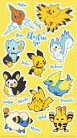 Electric Type Pokemon by miaow