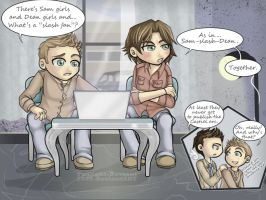 SPN: Sam-slash-Dean by Twilight-Deviant