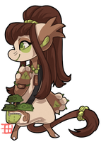#815 Blessed Gifted Floral BB w/m- Bonsai Tree by griffsnuff