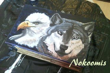 Wolf and Eagle by Nokoomis