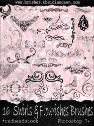 GIMP Swirls and Flourishes by Project-GimpBC