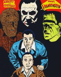 Abbott And Costello Meet Frankenstein (Color) by RoyPrince