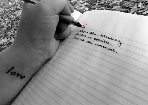 To Write Love On Her Arms by ManicExpressive