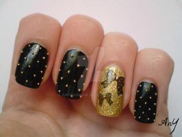 Edgy And Cute Nail Design by AnyRainbow
