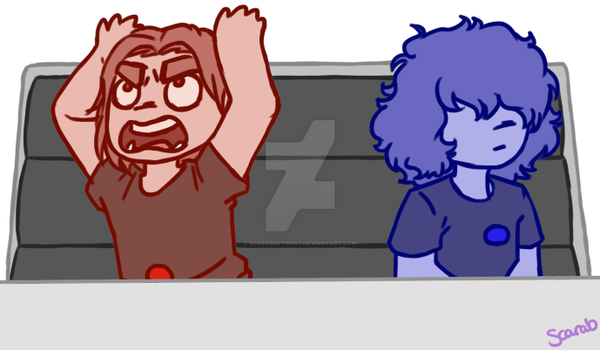 Crystal grumps - ruby + sapphire by ScarabSethArt